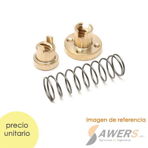 V-Wheel Aluminio V-SLOT (kit de 6pcs)
