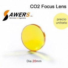 Lente de Enfoque ZnSe DIA.20mm - FL38.1/50.8mm
