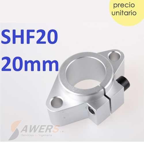 SHF20 Soporte sujetador eje lineal de 20mm