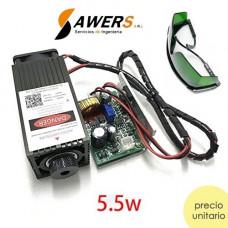 Modulo Laser 5.5W 450Nm Lente Ajustable 12V PWM TTL