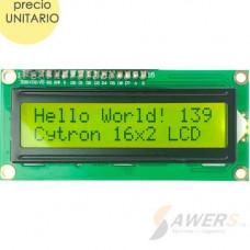 Pantalla LCD 16x2 (Amarillo)