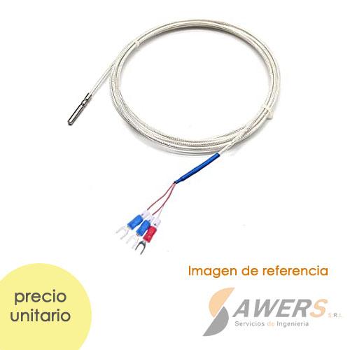RTD PT100 3 hilos Sensor de Temperatura M8 0-150C 2Mts