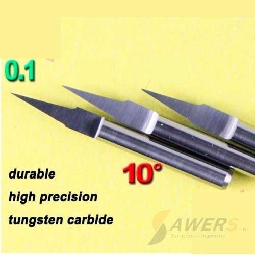 Fresa de grabado carburo 10grados 0.1mm