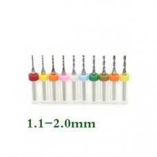Kit De Fresas CNC Para Perforacion 1.1 a 2mm
