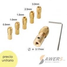 Fresa de corte espiral HSS 3 flauta 10*22mm SHK=10mm