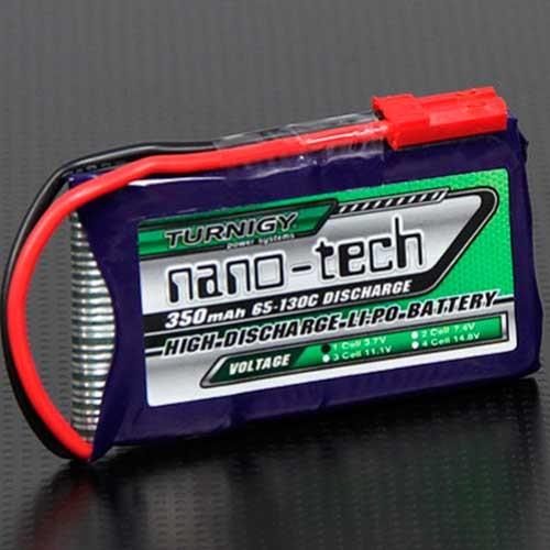 Bateria Lipo 3.7v 350mah 1S 65-130C Turnigy Nano-Tech