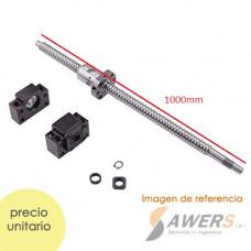 SFU1605 kit tornillo de bolas 1000mm con BK12/BF12