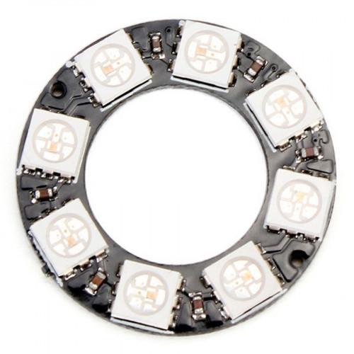 Led RGB WS2812 8Bit Tira PCB Circular