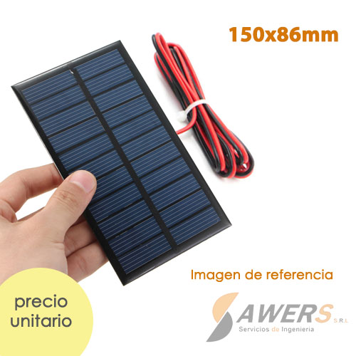 Panel Solar 5V 220mA 11x8cm