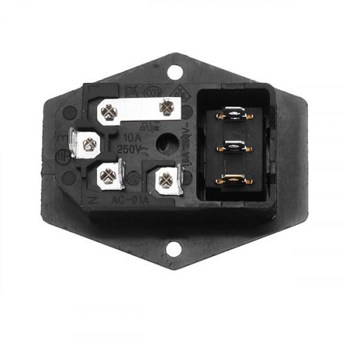 Zocalo Enchufe tablero C14 portafusible-Interruptor