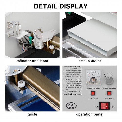 Maquina CNC Laser USB 40W 30x20cm