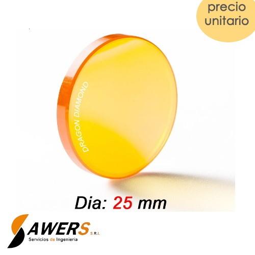 Lente de Enfoque ZnSe DIA.25mm - FL50.8mm