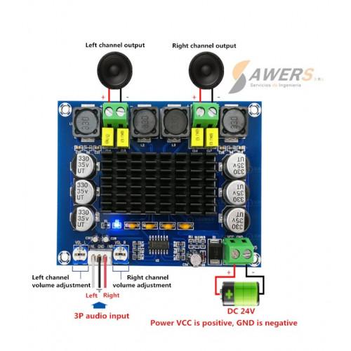 XH-M543 Amplificador Stereo 12V-120W