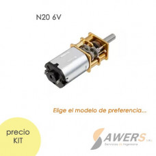 Micro Motorreductor N20 6V 100-200Rpm