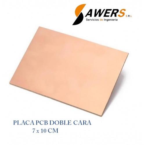 Placa PCB Fibra De Vidrio 7x10cm Doble Cara