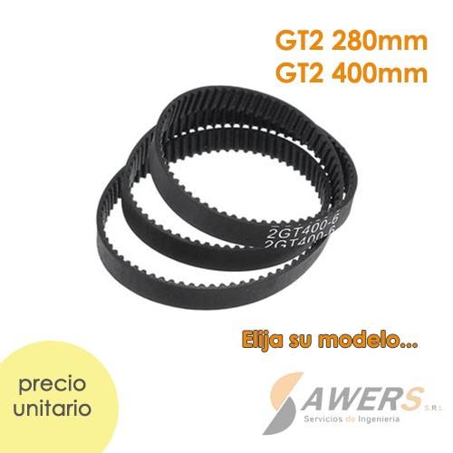 Correa cerrada GT2 6mm 280-400mm