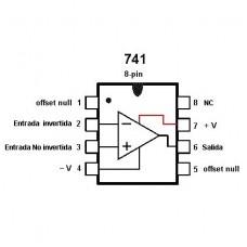 LM741 Amplificador Operacional DIP