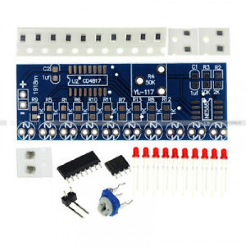 kit secuenciador de leds (Timer 555 CD4017)