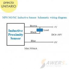 Interruptor de Proximidad Inductivo LJ12A3-4-Z 4mm