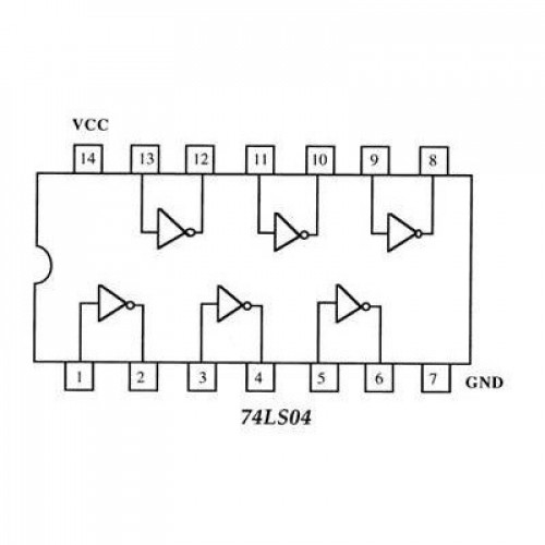 74LS04 Circuito logico NOT
