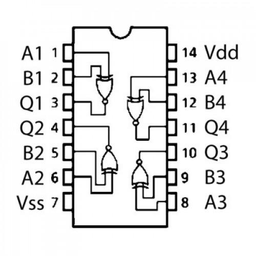 74LS266 Compuerta Logica XNOR