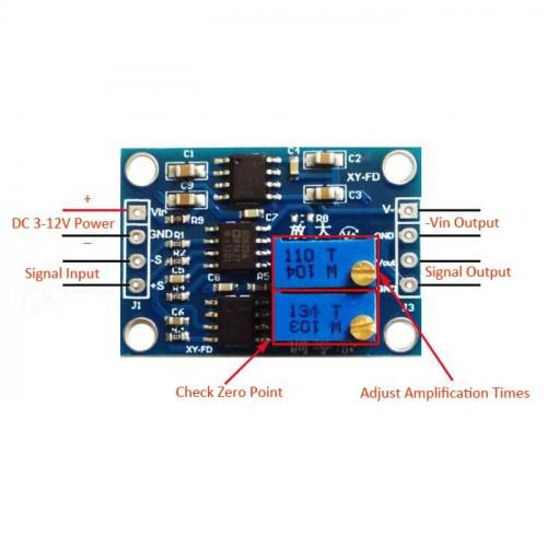 AD620 Amplificador de instrumentacion 0.1-300mV