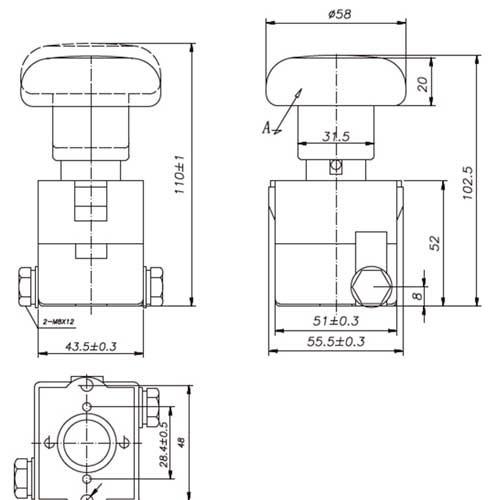ZJK125 Interruptor de emergencia 125A 500Vdc