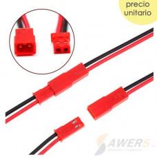 Conector plug JST 2P 10cm par (baterias Lipo)