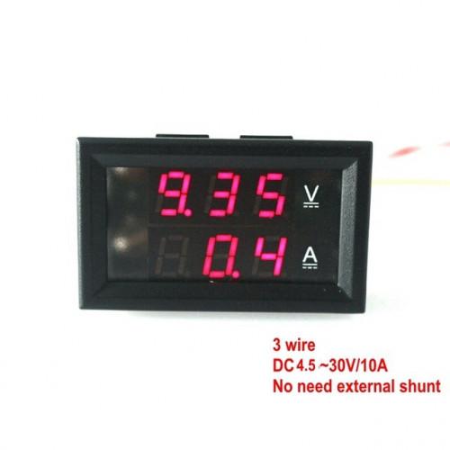 Voltimetro-Amperimetro 100V 10A para tableros