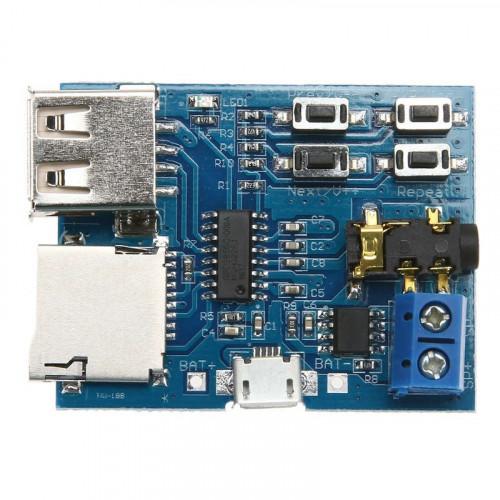 Modulo reproductor MP3 con amplificador 2W