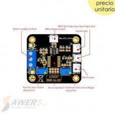 AD637 RMS-to-DC 8Mhz de alta presicion
