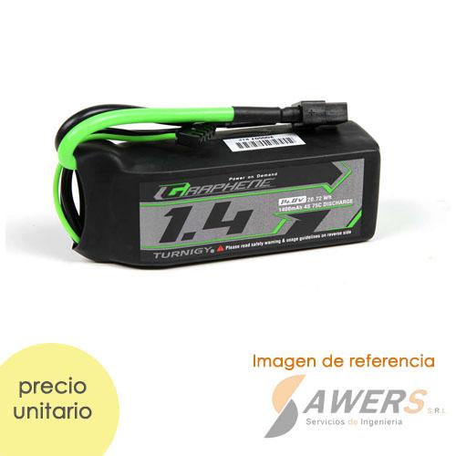 Bateria Lipo 14.8V 1000mAh 4S 65C Turnigy Graphene