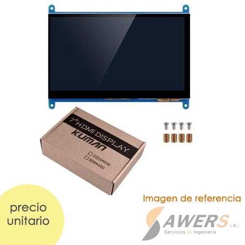 LCD Touch capacitiva de 7 Pulgadas HD 1024x600 HDMI