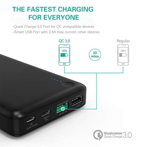 Bateria portatil RAVPower 20.100mAh Turbo