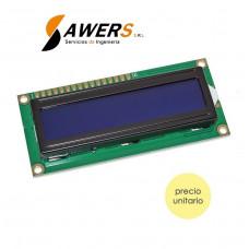 Pantalla LCD 16x2 (AZUL)