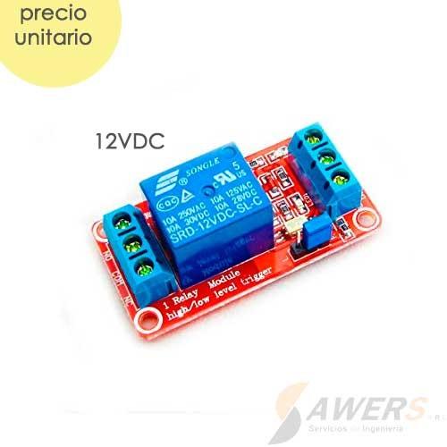 Modulo Relay 1CH 12VDC Optoacoplado