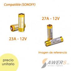 Pila Alcalina MN27 12V (compatible Sonoff RF)
