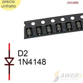 1N4148 Diodo Recuperación Rápida 100V 0.2A SMD