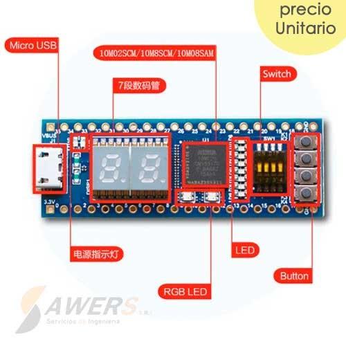 Placa de Desarrollo FPGA STEP-MAX10 10M02 VHDL