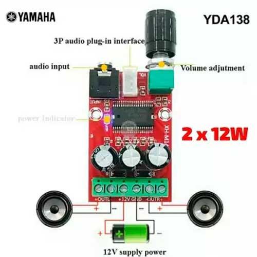YDA138-E Amplificador de Audio Clase-D  12W 12V