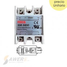 Relay de estado solido SSR-50DD 60VDC 50A