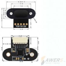 Sensor de distancia Laser TOF10120  Mini LIDAR 180cm