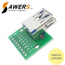 Zocalo USB Hembra Tipo A 3.0 a DIP