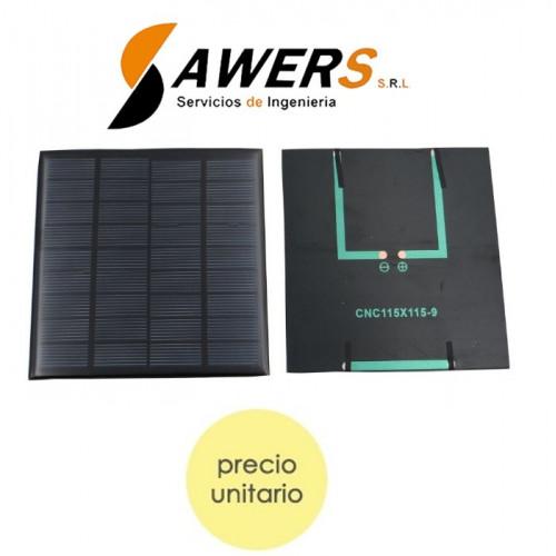 Panel Solar 2.0W 115*115mm 9V policristalino