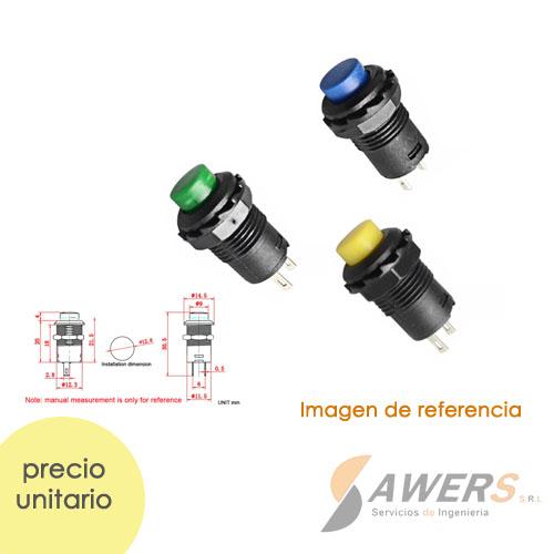 PBS-227 250V 1A NC Pulsador de reinicio automatico