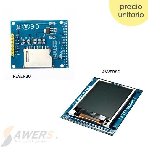 Pantalla LCD TFT 128x160 1.8inch SPI y SD