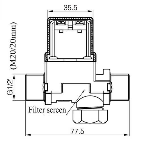 Valvula Solenoide DN15 1/2inch calentador de agua