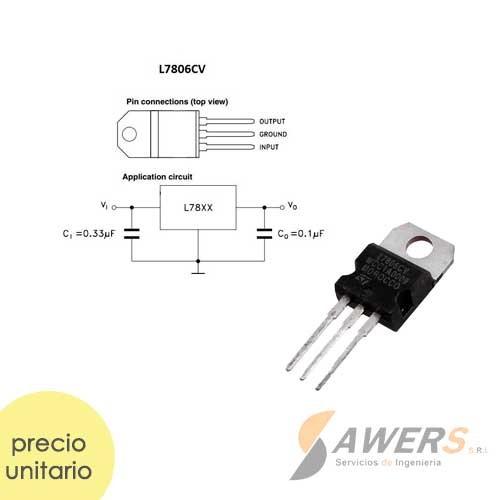 LM7806 Regulador de Voltaje 6V-1A
