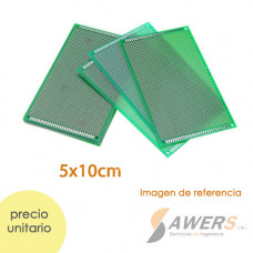 PCB Perforada cara simple 5x10cm (baquelita protoboard)