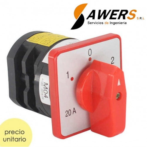 Interruptor Industrial Tablero 3POS 380V 20A 4KW